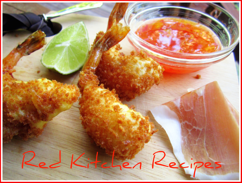 Red Kitchen Recipes: Panko Shrimp Tempura with Prosciutto