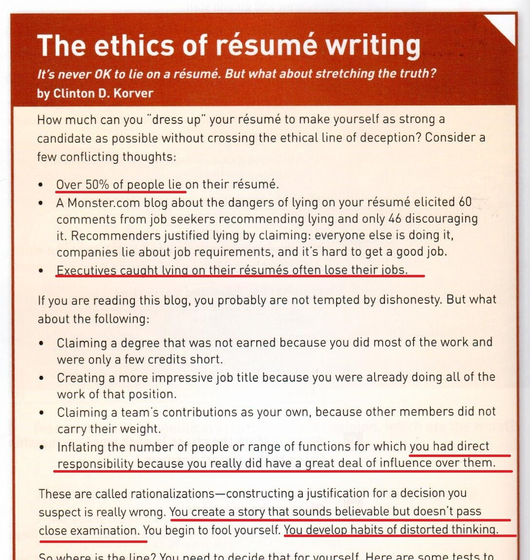 Lying On Resume Resume Lies Are On The Rise Fortune 91