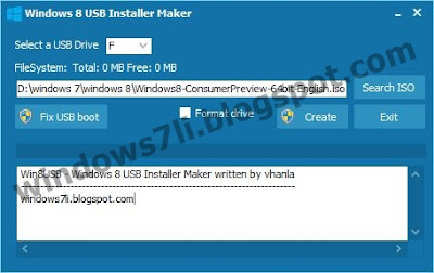 USB Installer , usb boot, windows 8 usb maker