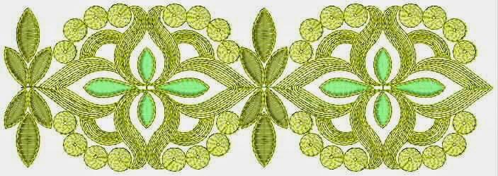 kleurvolle borduurwerk draad Kant grens