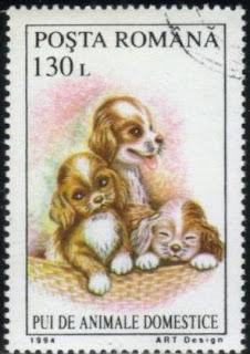 1994年ルーマニア 子犬の切手