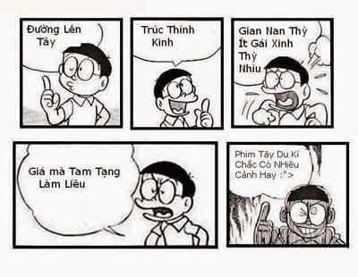 Nobita làm thơ chế vui về Tây Du Ký