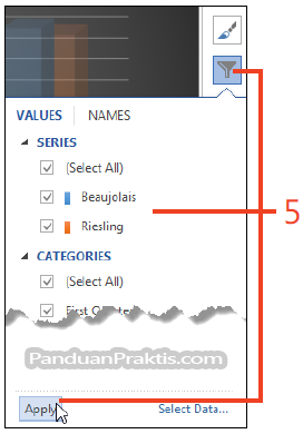 Gambar: cara buat grafik di word.