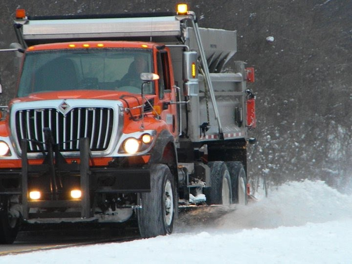 MDOT South Haven Garage plow truck