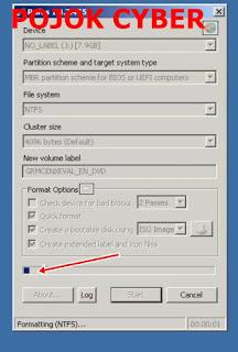 Proses penyalinan file ISO oleh RUFUS