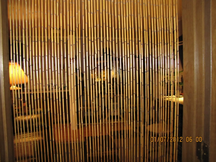 Bamboo Beaded Curtains ~ Bamboo Craft Photo