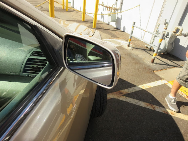 Replacement mirror painted and installed at Almost Everything Auto Body