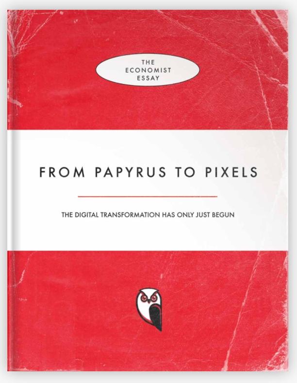 e-book, audiolibro, futuro, libro, cartaceo, Economist, Pixels, papiro, saggio, Penguin, recensione, audiolibro, autoedizione, Wattpad, internet, innovazione