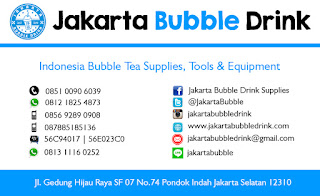 Contoh Desain Kartu Nama Jakarta Bubble Drink Supplier Distributor Agen Minuman Terlaris