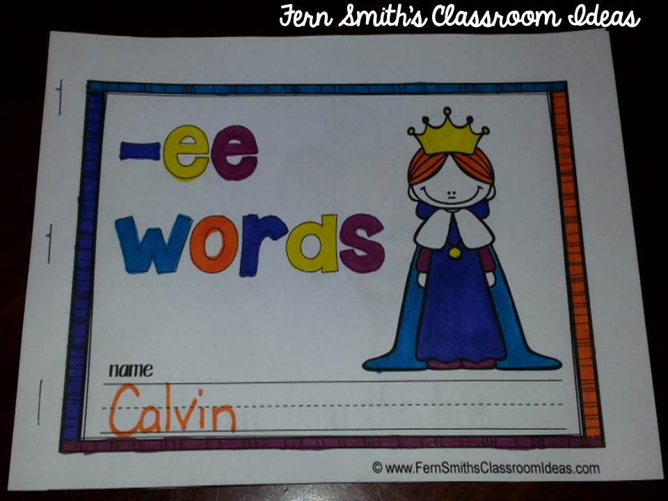 Fern Smith's Printable Phonics Mini-Books for the -ee Family