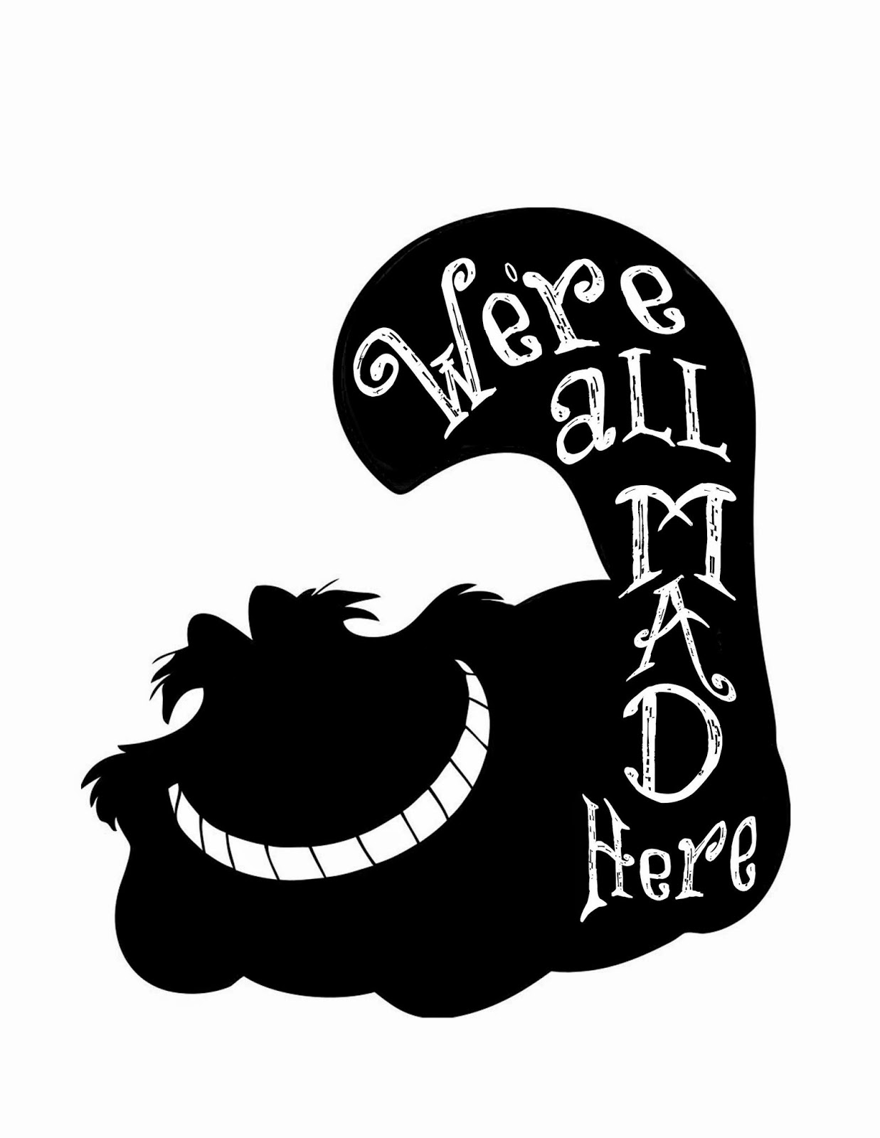 Alice In Wonderland Free Silhouette File Pinafores