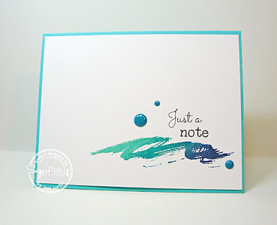 Just a Note card-designed by Lori Tecler/Inking Aloud-stamps and dies from SugarPea Designs