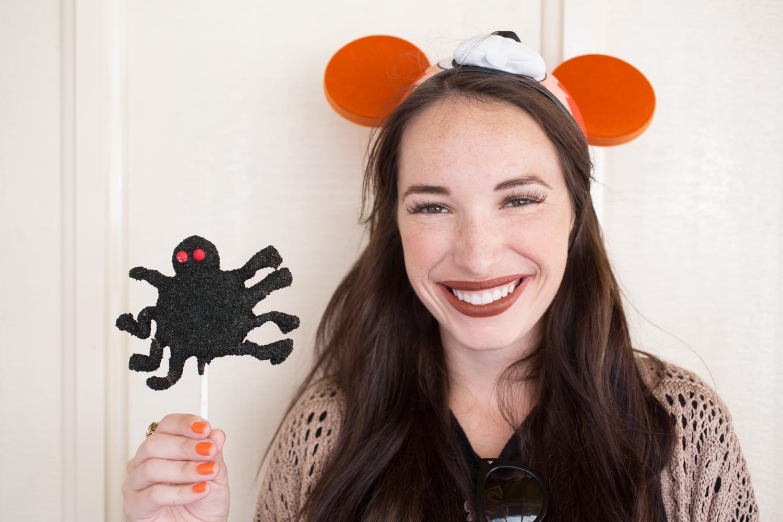 Disneyland Spider Cake Pop for Halloween Time