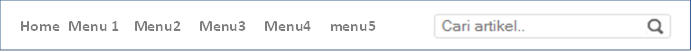 Cara Membuat Menu Horizontal Blog Search Engine