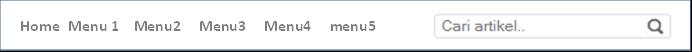 Cara Membuat Menu Horizontal Blog Search Engine