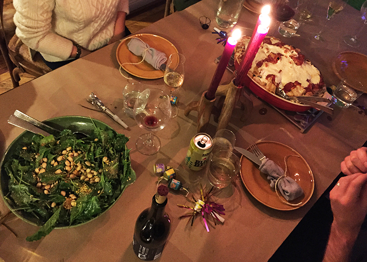 New year's eve feast, table setting