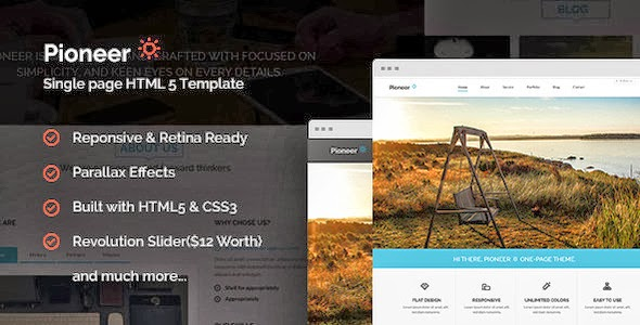Free download pioneer one page parallax html template themes review free download pioneer one page parallax html template maxwellsz