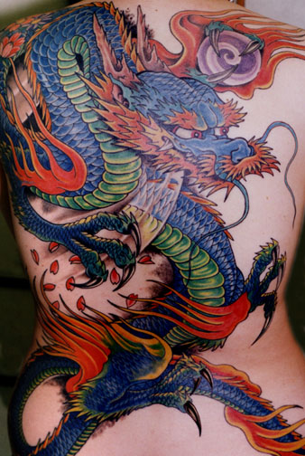 Colorful Dragon Tattoos