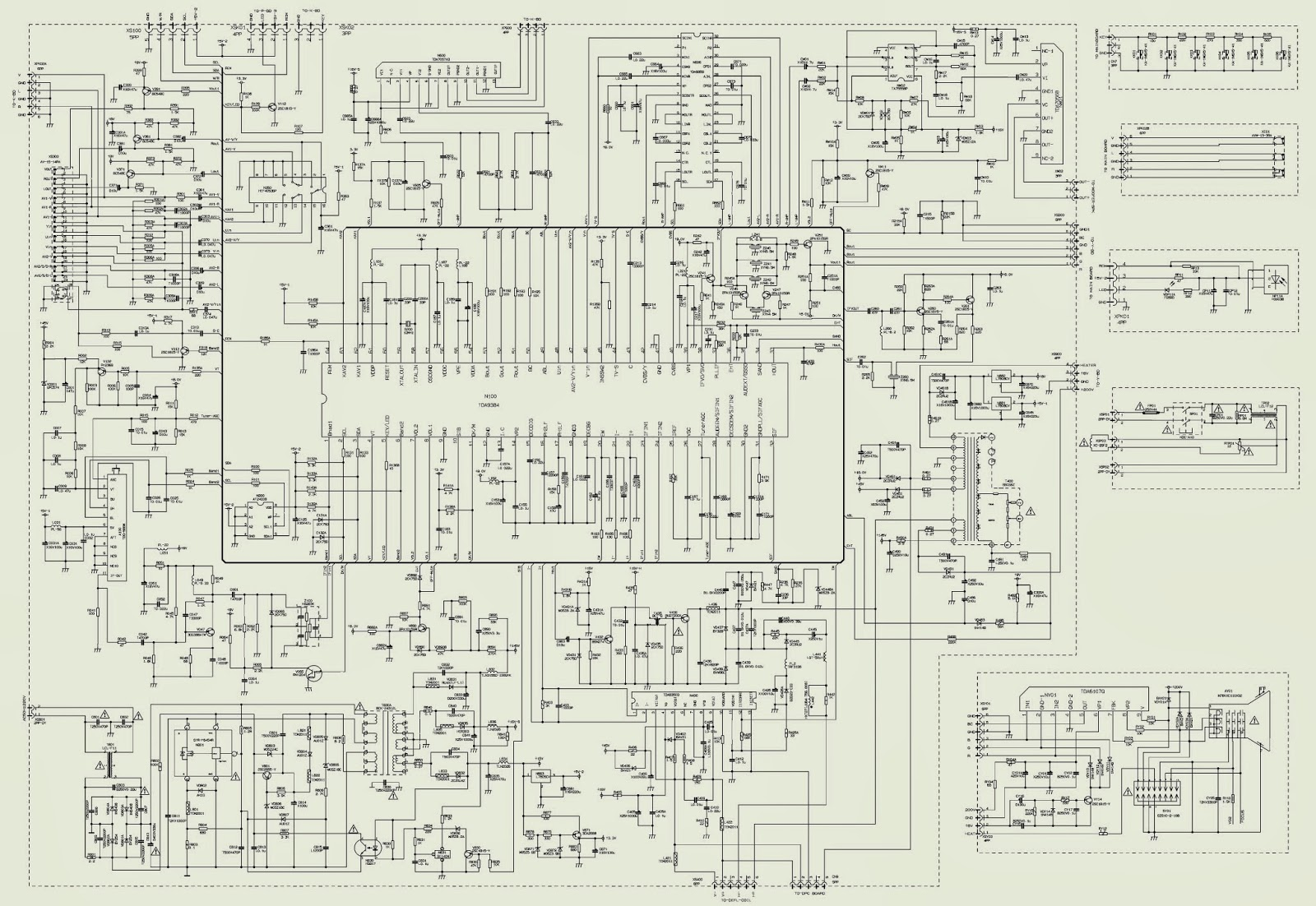 25ct23fsr - akai tv - schematic