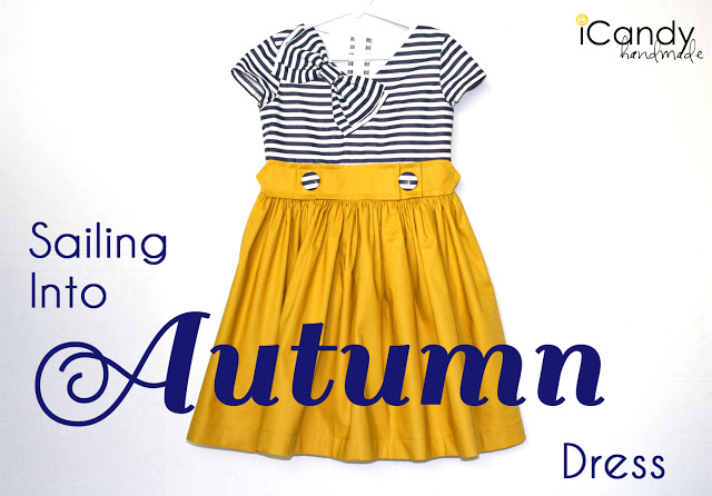 sailing into autumn dress sewing tutorial