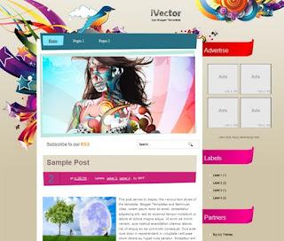 i Vector Blogger Template