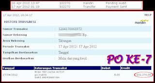Payout ke-7 dari IndonesianKlik