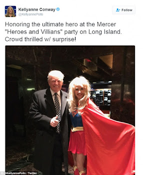 Campaign Svengali Kellyanne Conway Dons Supergirl Outfit at Victory Party