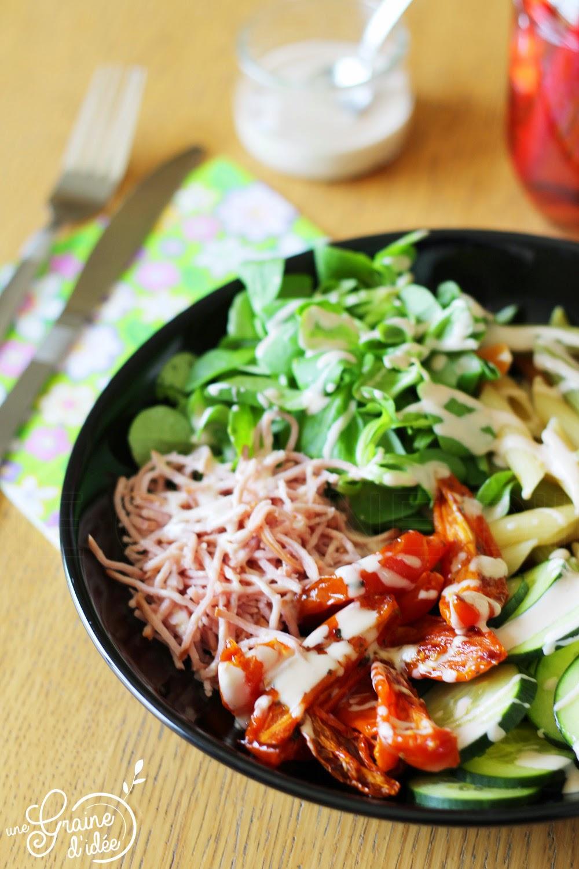 Salade Anti-Gaspillage et sa Vinaigrette à la Crème - Une Graine d'Idée