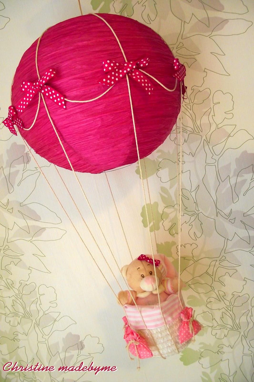 Αερόστατο - φωτιστικό για παιδικό δωμάτιο