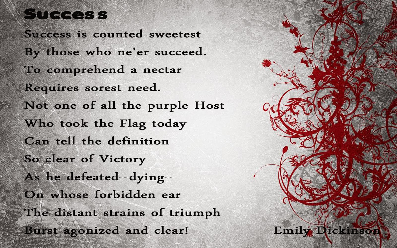 essay on poem by emily dickinson success is counted sweetest essay on poem by emily dickinson success is counted sweetest