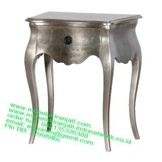 nakas klasik cat silver code NKSJ 114 nakas classic silver leaf jepara