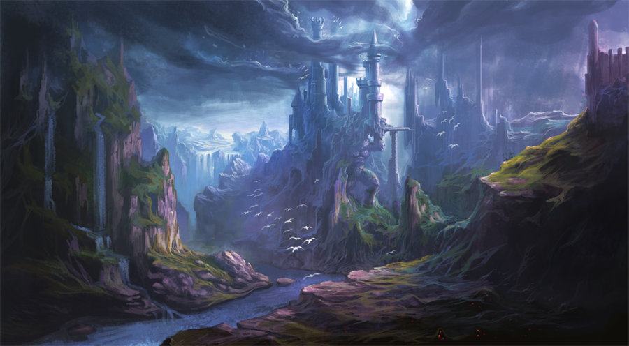 landscapes castles fantasy art - photo #17