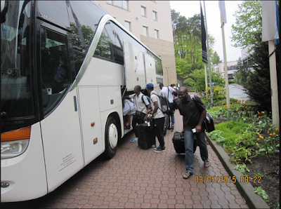 Photos; Flying Eagles Land In Germany Ahead Of FIFA U20 World Cup