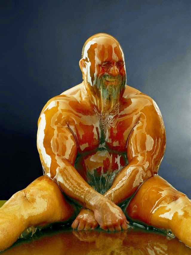 model covered in honey blake littles-1