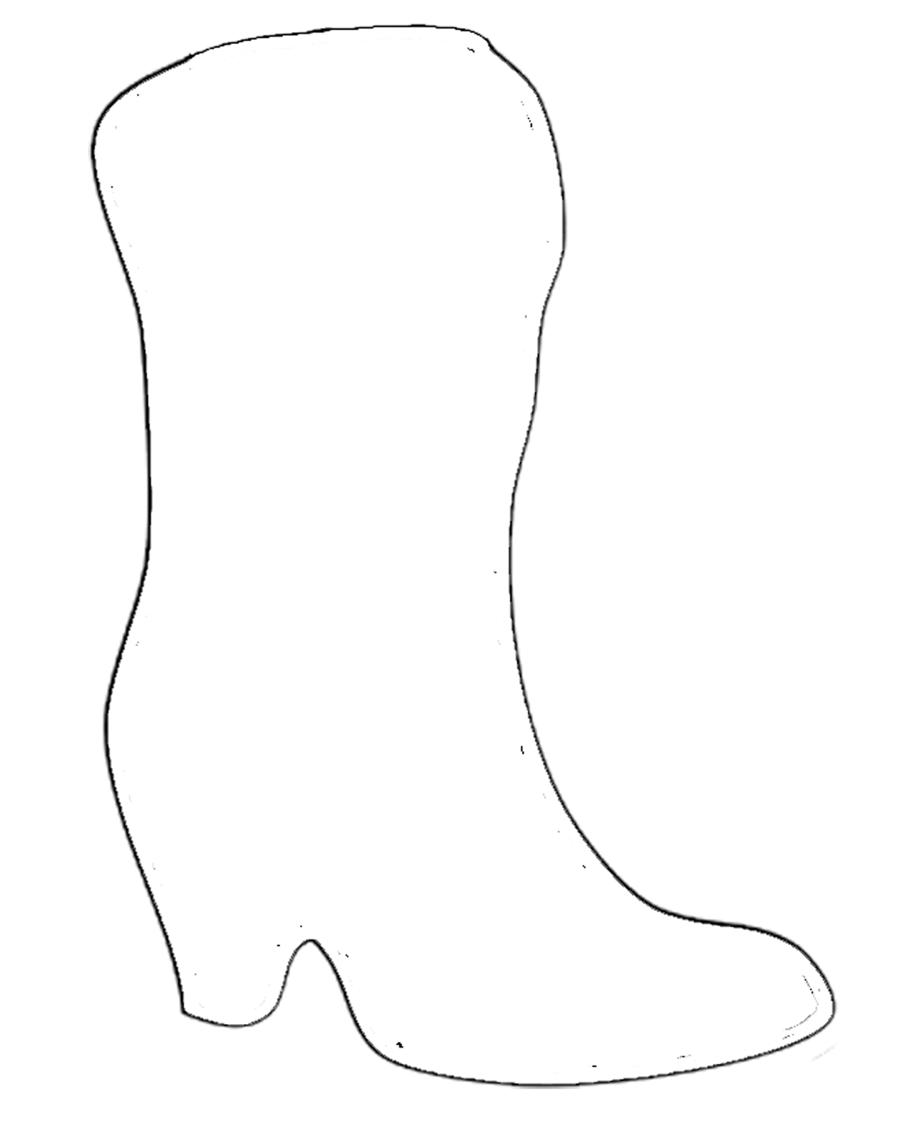 printable cowboy boots coloring pages - photo#34