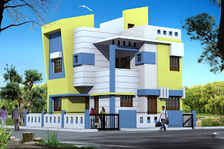Luxurious Bungalows at Jalaram Society  Bhuj   3D Elevation Planning