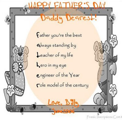 Fathers day poems in spanish for kids