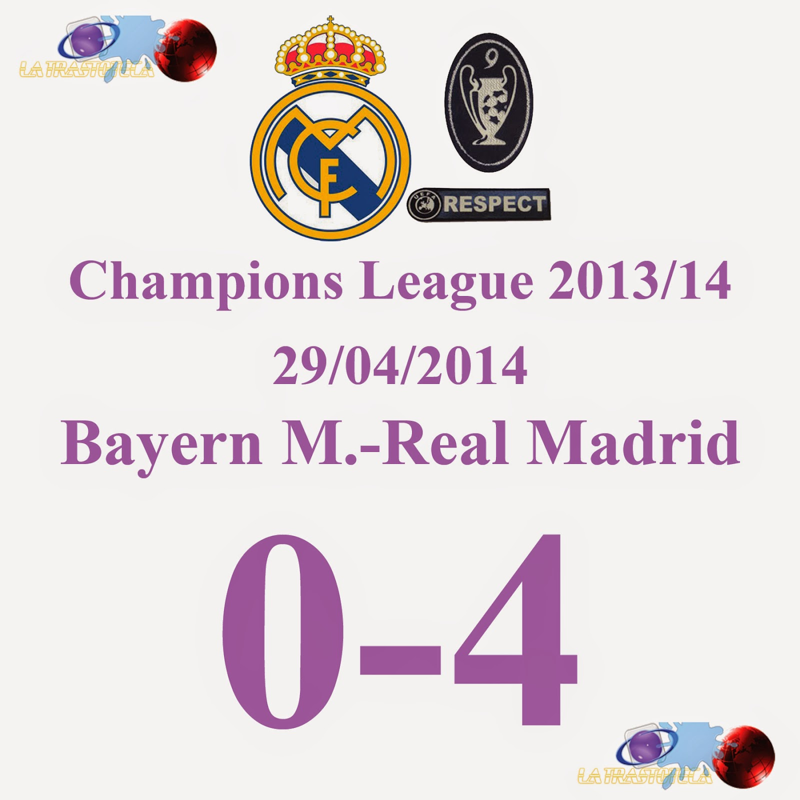 Cristiano ronaldo 0 3 bayern 0 real madrid 4 29 04 for Correo real madrid