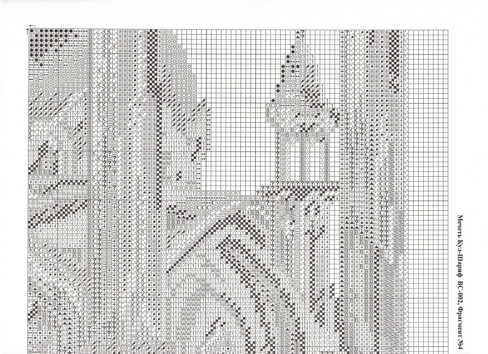 Вышивка мечетей по схеме крестиком