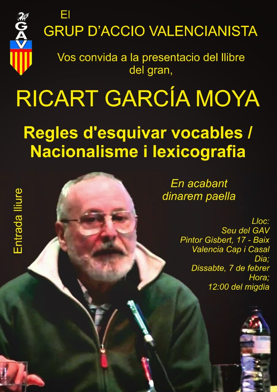 2015.02.07 DISSABTE, CONFERENCIA DE RICART GARCÍA MOYA EN EL GAV