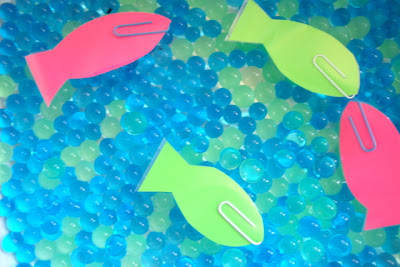 DIY Magnetic Fishing Game with Waterbeads