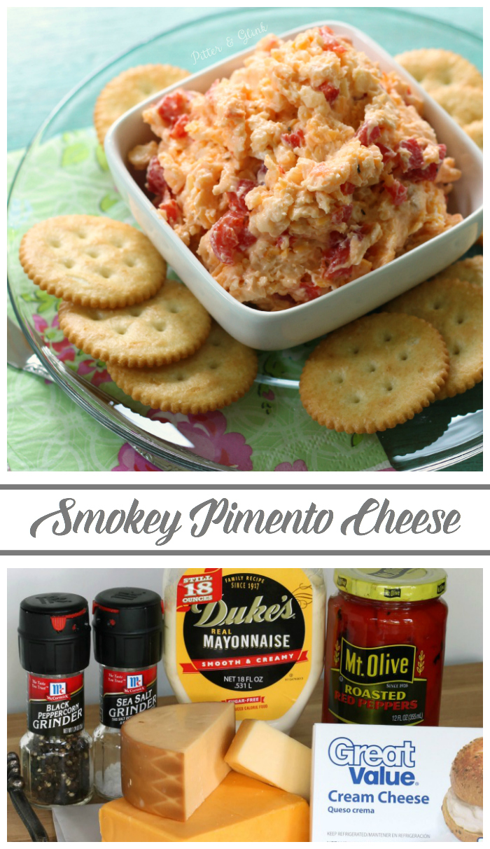 This Smokey Pimento Cheese is perfect on crackers, hamburgers, in an omelet and even in grits! www.pitterandglink.com