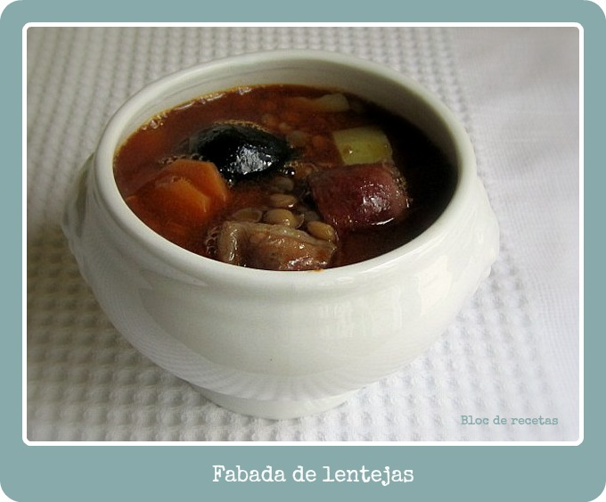 Bloc de recetas fabada de lentejas for Como cocinar fabada asturiana