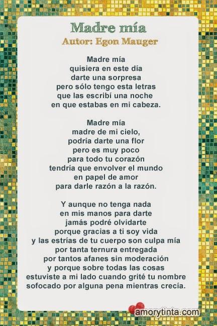 imagen con poema especial para dedicar a mamá