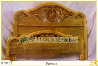Tempat tidur kayu jati ukir jepara Permata murah.Jakarta