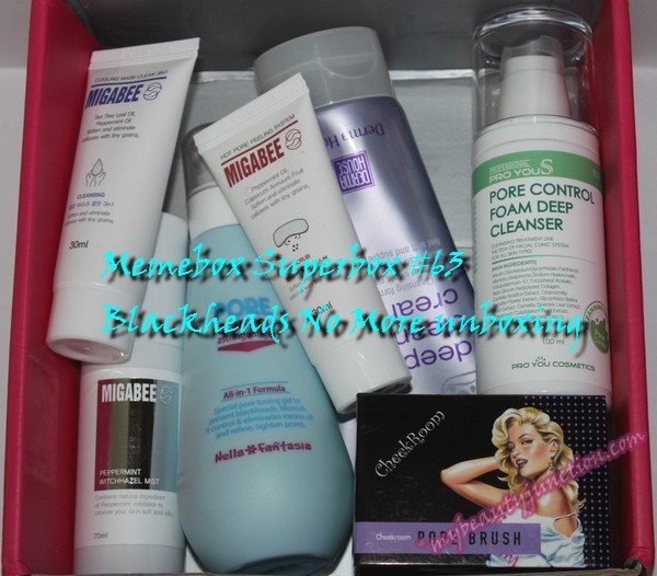 Memebox Superbox 63 Blackheads No More box review, unboxing, codes