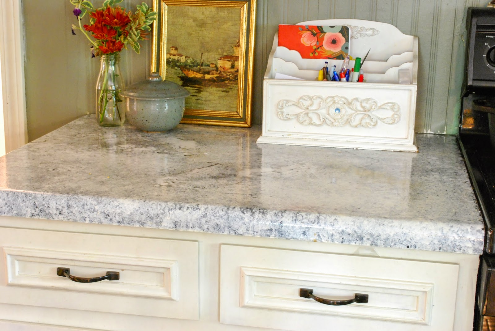 Yellow Countertop Paint : The first time around went smoothly, you can see the before pictures ...