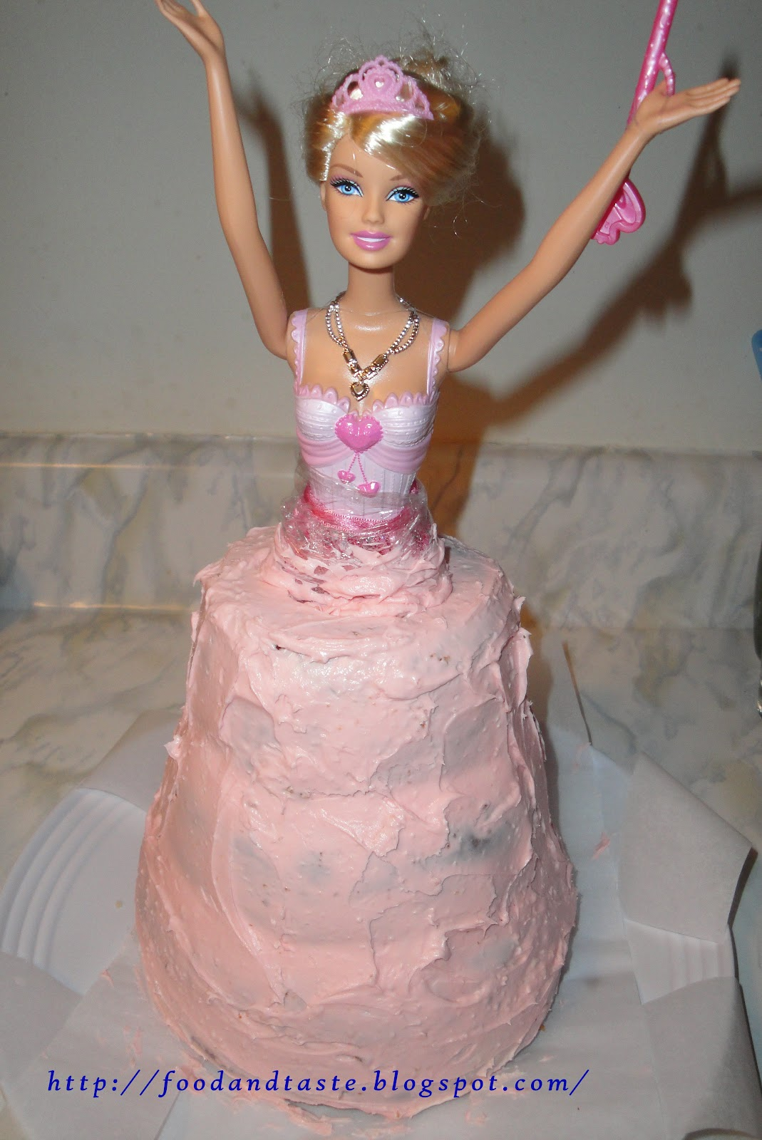Food And Taste Princess Barbie Doll Cake