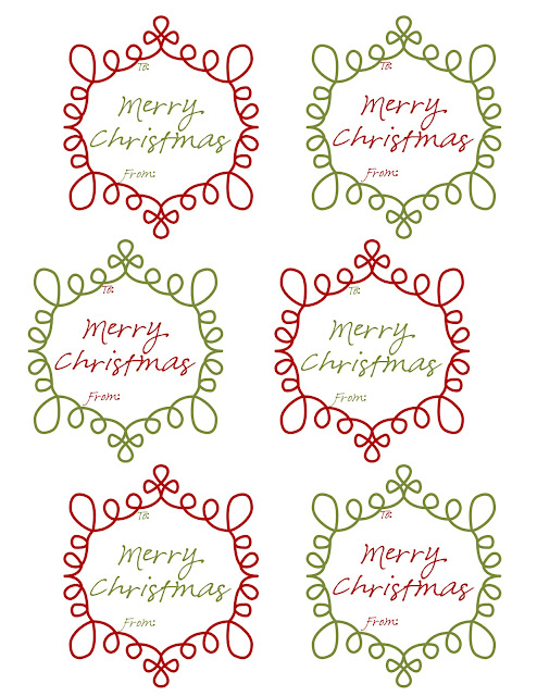Magic image within free printable holiday tags