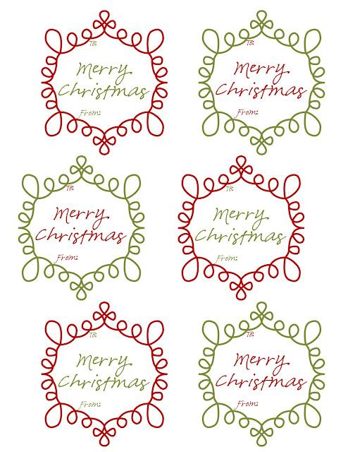 Invaluable image with free printable gift tags christmas